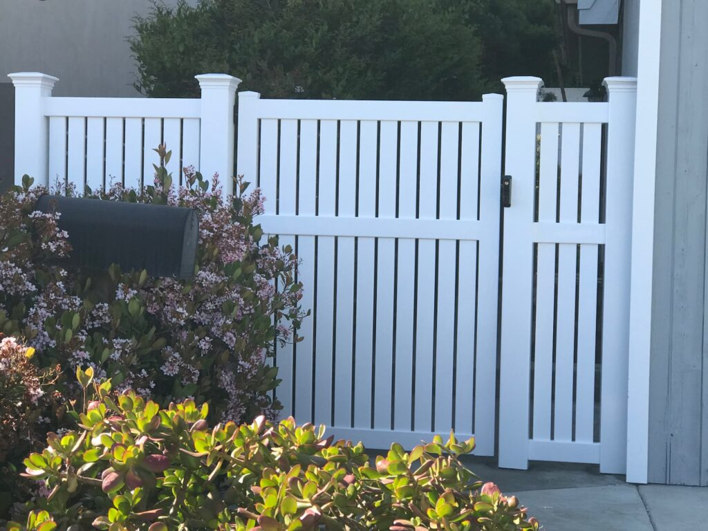 Vinyl Semi Privacy Gate Malibu, California